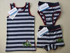 SCHIESSER Jungen Unterhemd Slip Shorts DINOSAURIER 98 104 116 128 140Unterwäsche