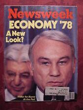 NEWSWEEK magazine January 9 1978 ECONOMY '78 +++