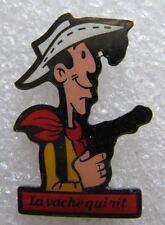 Pin's La Vache qui rit Lucky Luke avec un Pistolet pas brin de paille  #F1