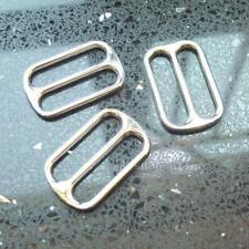 "1.5"" 38mm Widemouth Metal Round Triglides Webbing Slides 4 Leather Strap D ring"