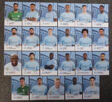 2017-18 Manchester City Signé Officiel Equipe Cartes Chacun
