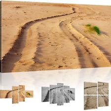 Sand Weg Bild auf Leinwand Landschaft Wandbild Natur Leinwanddruck