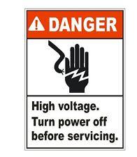 Danger High Voltage Sticker D1553 Electrical Safety Sign