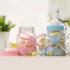 Pk 6 Christening Blue Miniature Baby Bottle ~ Candy Jar Baby Shower Keepsake