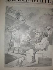 Hindu Burning Ghat Bombay Plague India 1897 old print Rene Bull