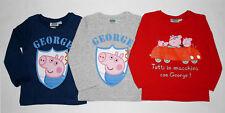 Peppa Pig George Langarmshirt Gr. 98-128 Set A Pullover Shirt langarm neu!