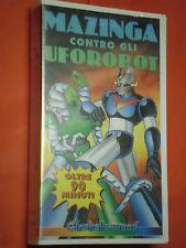 MAZINGA-CONTRO UFO ROBOT-VHS EDIZIONE ITA videocassetta-univideo pal-sigillato