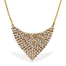 Damen Halskette Silber 925 mit Swarovski Elements Luxus Collier gold Halskette