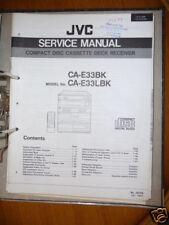 Service MANUAL PER JVC ca-e33 stereo, ORIGINALE