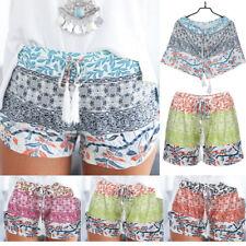 Women Lady High Waist Summer Casual Lace Up Floral Beach Sport Hot Pants Shorts