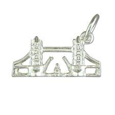 Silver Tower Bridge Necklace