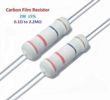 400pcs 2W Carbon Film Resistor ±5% - Full Range of Values ( 0.1Ω to 2.2MΩ )