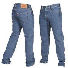 Levis 501 Original Fit Mens Jeans Straight Leg Button Fly 100% Cotton Stonewash