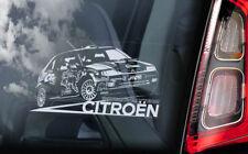 Citroen Saxo WRC - Car Window Sticker - Sebastien Loeb World Rally Team Club V03