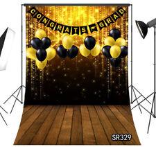 Graduation Grad Party Photo Backdrop Brown Wooden Board Balloon Background