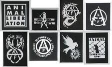 Animal Liberation Front Patch ALF Crass Vegan Vegetarian Rights Subhumans Punk