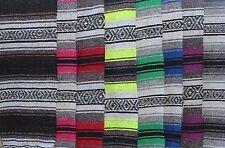 "Authentic Mexican Falsa Blanket Hand Woven Yoga Mat Blanket 72""x 54"" Serape"