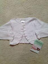 New White Bonnie Jean Long-sleeve Bolero Sweater (Girls) Size (S) Small 4/5
