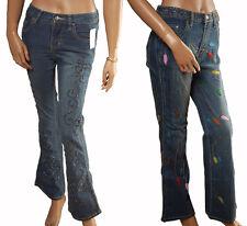 BN - Ladies Handmade Denim Beaded & Sequin Boho Jeans - UK 8 & 12
