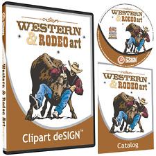 COWBOY RODEO HORSE CLIPART-VINYL CUTTER PLOTTER IMAGES-EPS VECTOR CLIP ART CD