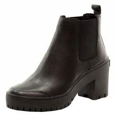 Donna Karan DKNY Women's Silone Fashion Black Leather Booties Shoes