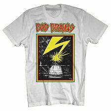 Authentic BAD BRAINS Band Capitol Logo Hardcore Punk T-Shirt White S-2XL NEW