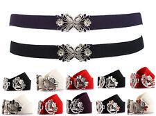 "Elastic Dandelion Flower Buckle Waist Jeans Dress Belt 1"" Inch Fashion"