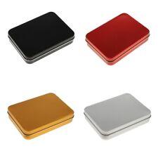 Rectangular Empty Tinplate Tins Box Containers Silver Metal Mini Portable