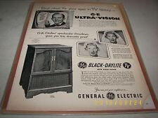Bing Crosby & Joan Davis Black & White Print Ad 1953 G-E Televisions