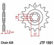 F150114: JT SPROCKETS Piñon JT 1501 de acero con 14 dientes