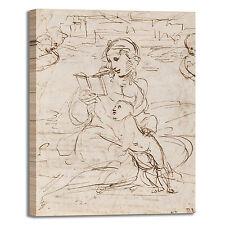 Raffaello Madonna legge bambino quadro stampa tela dipinto telaio arredo casa