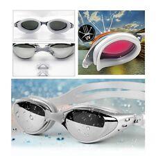 Unisex Adult Anti-UV Anti-Fog Anti-shatter Adjustable Swimming Goggles w/ Case