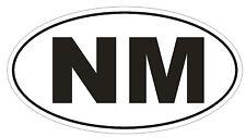 NM New Mexico EURO OVAL Bumper Sticker or Helmet Sticker D477 Laptop TABLET