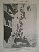 Printed photo France navy sailor training 1907