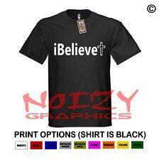 I Believe Cross #3 Christian Shirt Black T-Shirt Jesus Religious Faith Worship