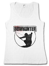 BOWHUNTER DAMEN TANK TOP Hunter Deer Bear Hunting Sport Rack Rifle Gun Hunt
