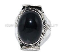 Onyx Ring Boho Ring Tribal ring Tibetan ring Gypsy ring Silver ring Hippie Ring
