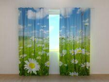 Curtain Chamomile Field Wellmira Custom Made Window Printed 3D Floral Motif