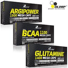 ARGIPOWER + BCAA + L-GLUTAMINE 90/180 Caps. L-Arginine Booster Amino Acids Pills
