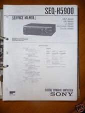 Service Manual Sony SEQ-H5900 Control Amplifier,ORIGIN