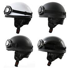 Retro Helm + Motorrad Brille Sturzhelm Simson S50 51 Enduro SR2 Schwalbe