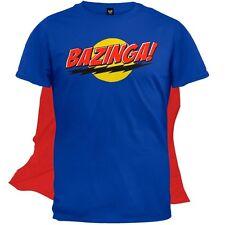 Big Bang Theory - Bazinga Mens T-Shirt With Cape