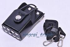 Hard Leather Holster Case For Motorola GP344 GP388 GP328Plus radio