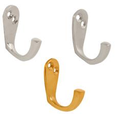 Robe Hooks Polished Chrome, Satin Chrome or Polished Brass - Single Robe Hook