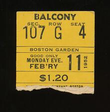 2nd NBA All-Star Game Ticket Stub - 1952 - Boston Garden - Paul Arizin MVP