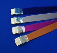 NUOVA Tela Cinghia Golf Pantaloni Cintura XL XXL XXXL 6XL 7XL BLU ROSA BEIGE ARANCIONE