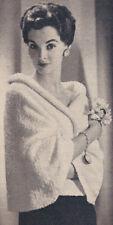 Vintage Knitting PATTERN to make Wrap-around Stole Shawl Cover Wrapstole