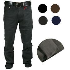 Pantalone Uomo in Fustagno 5T Felpato Vita Alta Invernale Foderato Jeans 46-64