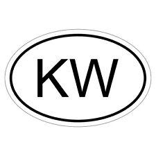 Kuwait Kw-csd0030 AUTO ADESIVO STICKER ADESIVI BANDIERA PER AUTO