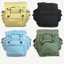 Mens Ladies Shoulder Backpack Military Vintage Bag Army Rucksack Retro Satchel